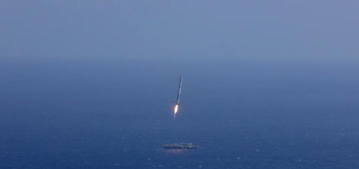 Atterraggio del primo stadio di un Falcon 9